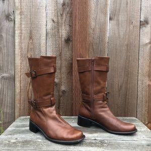 Enzo Angiolini Brionae Mid Calf Leather Boots